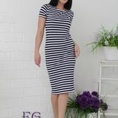 Распродажа. Платье в полоску 4 цвета р-ры 42-54