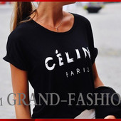 """СП. Гламурная футболка """"Celine-Paris"""" по акционной цене!!!"""