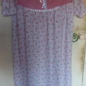 Сорочка женская с коротким рукавом,качество супер!сбор второй раз 100% х/б, пр-во Узбекистан