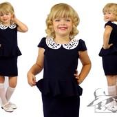 Шикарное платье в школу! Шок цена! Цвет синий и черный,  рост 122-140! Отправка после оплаты!