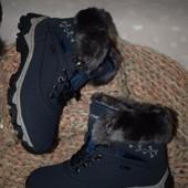Зимние кроссовки с искусственным мехом