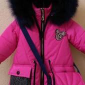 Любимые зимние курточки для девочек снова в наличии, качество проверенное временем!