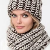 Теплые комплекы. Шапка + шарф