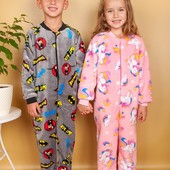 Тёплые махровые пижамки ,халаты,комбинезоны мальчикам и девочкам рост от 80 до 164 см.
