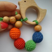 Под заказ! Развивающие игрушки для малышей (подвески,грызунки,держатели для соски,погремушки)