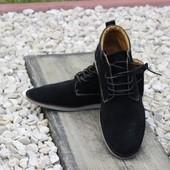 классные деми ботинки натуральная замша 41-46рр (Польша)