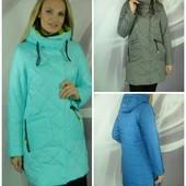 Весняні куртки, пальто, плащі 42-60, відправка в день оплати!