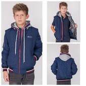 Куртка Бомбер для мальчика р.128-158