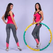 Бесшовные лосины для занятий спортом, фитнесом и прогулок, на ОБ 90-110 см