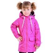 Демисезонные, весенние куртки, пальто, ветровки на девочку из мембранной ткани Be easy