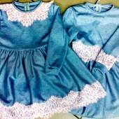 Платья из итальянского трикотажа , отшив от 1шт,р98-134