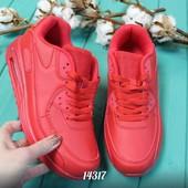 Есть 37,38,39,41) Красные кроссовки в стиле nike air max