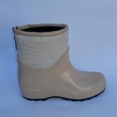 Резиновые ботинки на флисе