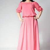 Платье в пол штапель софт лен реальные фото р 42-60 Цена актуальна