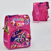 Рюкзак школьный, 2 кармана, спинка ортопедическая.