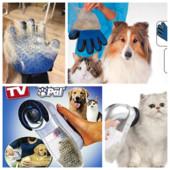 Перчатка true touch, Машинка для вычесывания  стрижки животных Shed Pal  (Шед Пал )