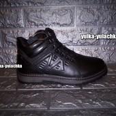 рр. 40-43 Зимние кожаные ботинки внутри овчина прошиты
