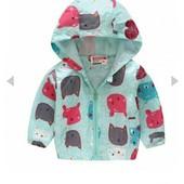 Куртки -вeтровки для  манюнь!!!Без минимального сбора и ростовок! Выкуп от 1 единицы!Размеры 80-140!