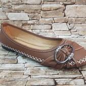 Отправка после оплаты! Стильные туфли-балетки,  размеры 36-41
