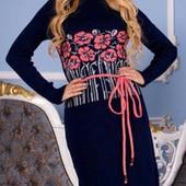 Шок цена! Вязаные платья шикарного качества! на р. 42-48 универ. размера! Супер качество!!!
