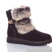 СП,  Зимние ботиночки натуральный замш.