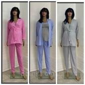 Домашний костюм пижама для беременных и кормящих с брюками тройка. Выкупить 17.12