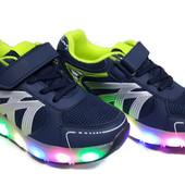 Готовимся к праздникам Светящиеся кроссовки с роликом размеры30-38