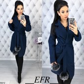 Женские демисезонные пальто, 3 модели, разные цвета, размеры 42-44, 46-48.