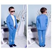 Стильные костюмы и рубашки для модных ребят Размер 116-158
