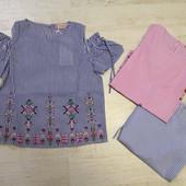 В наличии !!!!Блузы,футболки для девочки Seagull, Glo-story 4-16 лет,110-160 см.