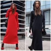 Тёплые платья с капюшоном и без.Крутые модели,фавориты сезона! Качество!