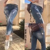 Стильные джинсы ,свободного кроя ,высокая талия