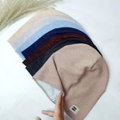 Тонкие шапки с люрексной нитью на осень