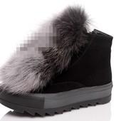 Очень крутые ботинки зима натуральный замш!!!!!