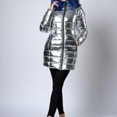 Зимняя женская молодежная куртка металик..44-48
