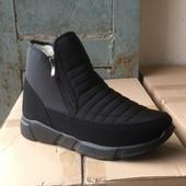 Выкуп 10 числа Лёгкие теплые мужские ботинки дутики 40-45