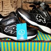 Натуральная кожа! Утепленные деми кроссовки-ботинки на флисе 32-37 р. Качество шикарное!