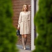 Осень зима, вельветовые платья 42-52