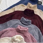Женские теплые свитера велюровые