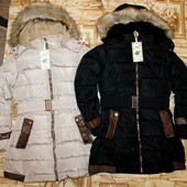 Куртка на меху для девочки 8-16 р