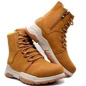 Ботинки мужские KMB зимние коричневые (М-1918-cml)