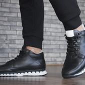 Мужская зимняя кожаная обувь, зимние кроссовки, ботинки