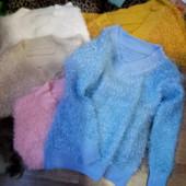 теплые свитера буклированная вязка