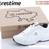 """Женские стильные кроссовки """"Restime нат. кожа 3 вида 36,37,38,39,40,41 чёрные,белые. Заказ от 1 пары"""