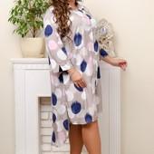 Довге плаття-рубашка супербатал 3XL-7XL