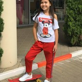 СП Летний комплект для девочки футболка брюки