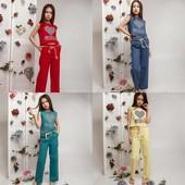 Сп круті костюми з льону для дівчаток
