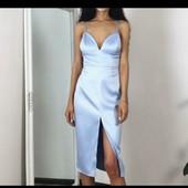 Шикарне плаття,небесного кольору.Розмір М .Стан нової речі ,не підійшов розмір