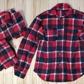 Стильная тёплая рубашка-кардиган 44, 46, 48. Замеры