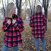 Стильное пальто-рубашка 42, 44, 46, 48. Замеры